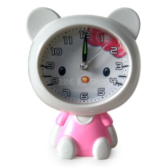 Jam Weker Hello Kitty Teddy Bear Duduk Alarm Clock Karakter Free Batre cd781968e6