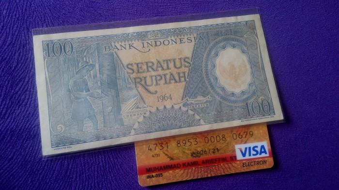 harga Uang lama uang kuno 100 rupiah seri pekerja biru tahun 1964 Tokopedia.com