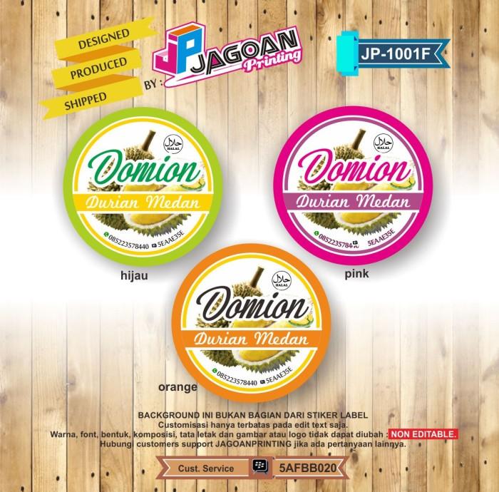 Jual Stiker Label Produk Makanan Isi 200 Pcs Kode Jp 1001f Kab