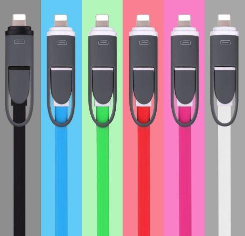 harga Kabel data 2 in 1  usb to micro & to iphone 5 or ipad mini Tokopedia.com