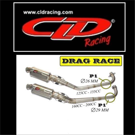 harga Knalpot cld drag race jupiter z 160cc-200cc Tokopedia.com