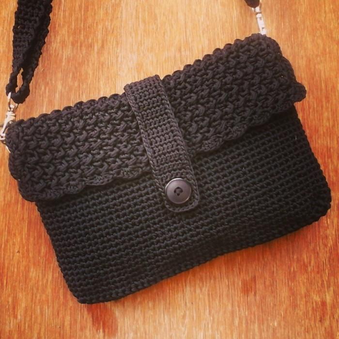 Jual tas rajut wanita elegance hitam (+furing dan resleting) - buci ... c283fe5616