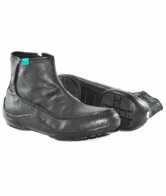 harga Sepatu casual boot pria kickers zipper black ( kulit asli ) Tokopedia.com