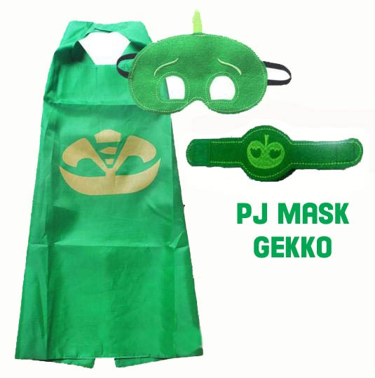 harga Jubah &topeng & Handband/gelang Pj Masks Gekko (green)| Kostum Anak Tokopedia.com