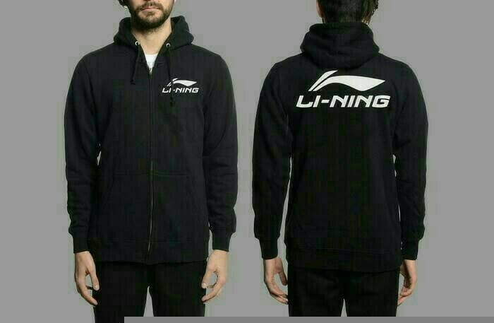 harga Jaket / hoodie / sweater li - ning - hitam Tokopedia.com