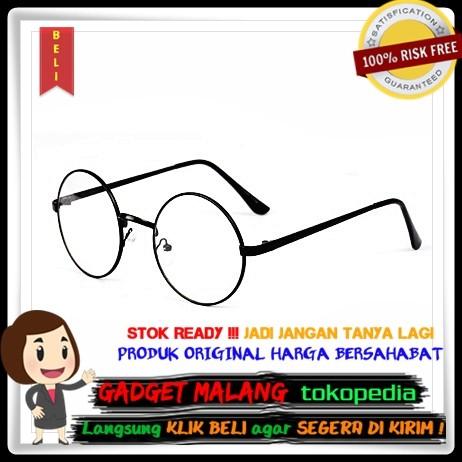 Jual Kacamata Retro Bulat Nerd Fashion Wanita - Black - Gadget ... a5176a35ee