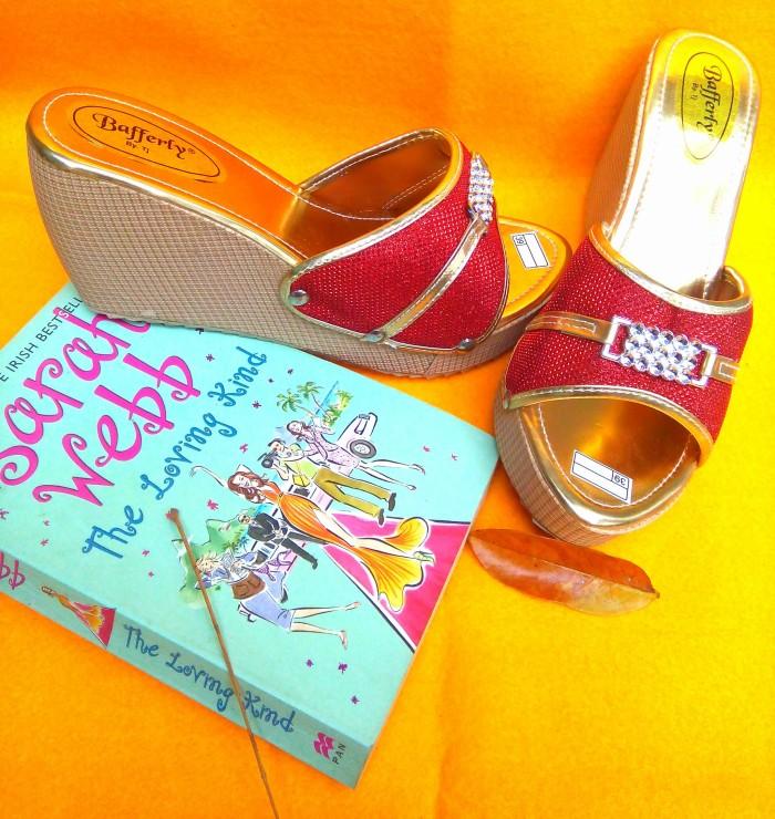 harga Sepatu sandal wedges merah murah bagus Tokopedia.com