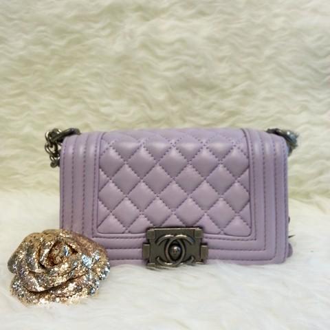 942788708b50 Jual Super MS1222 Tas Chanel Boy Lambskin KW Super Premium - Purple ...