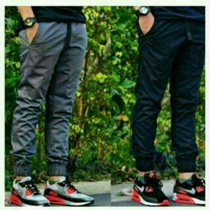 harga Celana panjang jogger pants pria laki big size jumbo besar size 33_38 Tokopedia.com