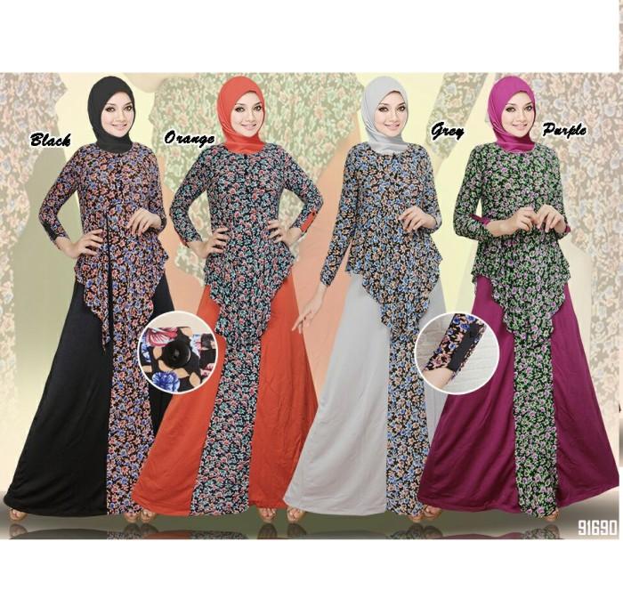 Jual Maxi Dress Zahira Spandek Busana Muslim Baju Gamis Muslimah