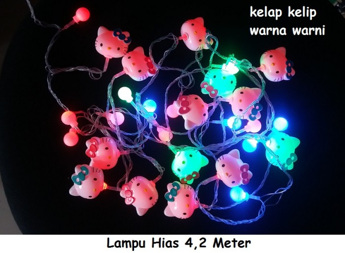 harga Lampu hias hello kitty / lampu hias natal Tokopedia.com