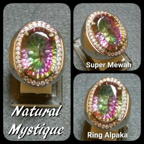 harga Cincin batu akik permata natural mystique quartz ring alpaka super Tokopedia.com