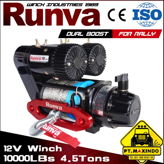 harga Runva 10db double motor electric winch kapasitas 45 ton high speed Tokopedia.com
