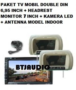 harga Paket tv mobil double din 6,95 +headrest monitor 6,2 +kamera+antenna Tokopedia.com