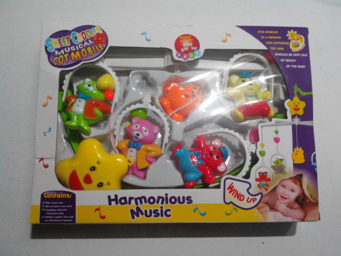 Mainan musik gantung bayi / baby sweet cuddles / anak edukatif