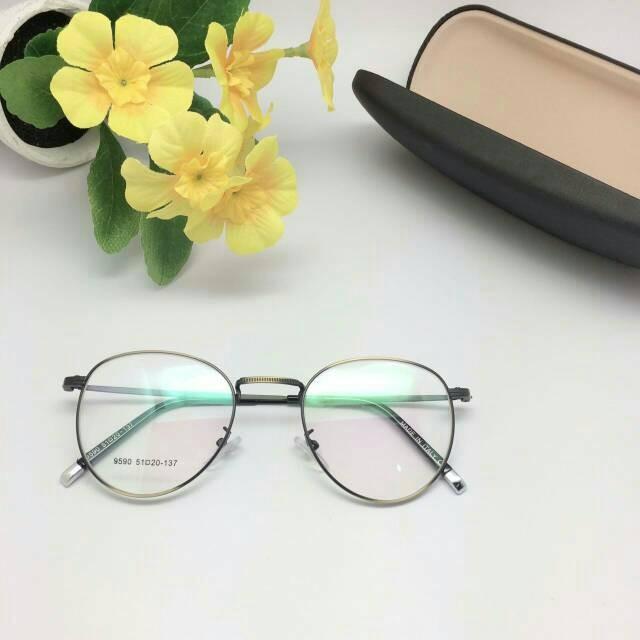 Jual Paket Kacamata Modern Vintage Besi + Lensa Minus Antiradiasi ... fdc1e759fb