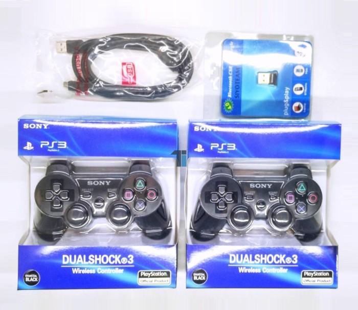 harga 2 stik ps3 ori pabrik + 1 kabel usb + 1 bluetooth ( wireless gamepad ) Tokopedia.com
