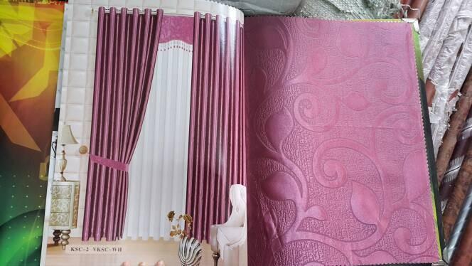 Curtains Gordyn Lazada co id Source · GORDEN GORDYN blackout polos embos model smokering warna ungu