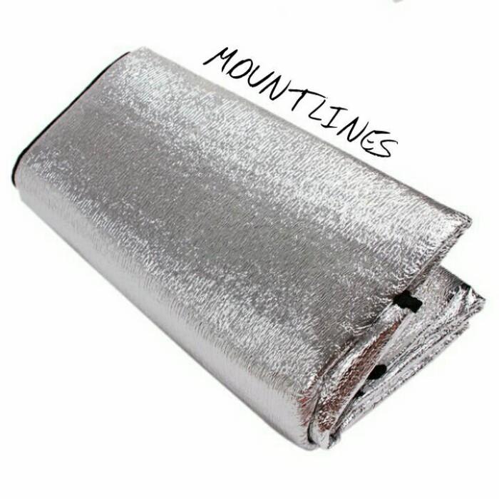 Matras Camping Bahan Alumunium Foil Anti Dingin Penghangat Tubuh