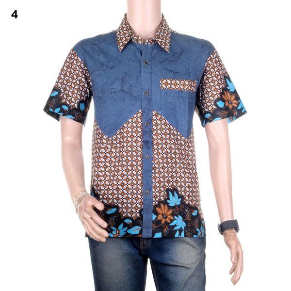 harga Kemeja batik   hem batik kombinasi dengan saku paspol winata - motif 4 Tokopedia.com