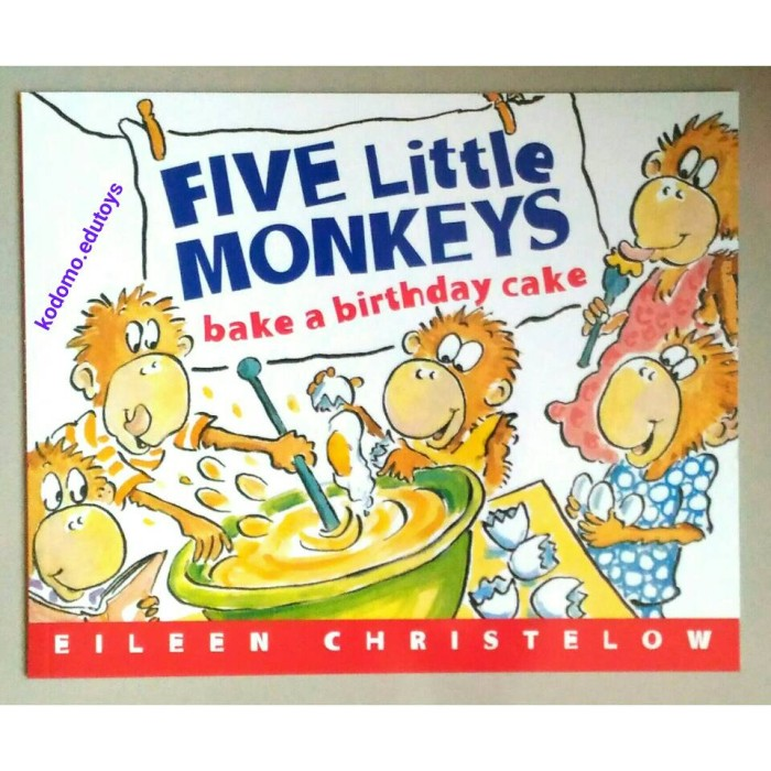 Terrific Jual Five Little Monkeys Bake A Birthday Cake By Eileen Christelow Funny Birthday Cards Online Inifofree Goldxyz