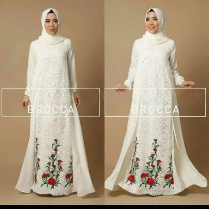 Jual Baju Muslim Dress Syari Terusan Gamis Gaun Pesta Terbaru Murah
