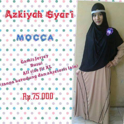 Jual Terbaru Gamis Syari Azkiyah Coklat Baju Gamis Modern Koleksi