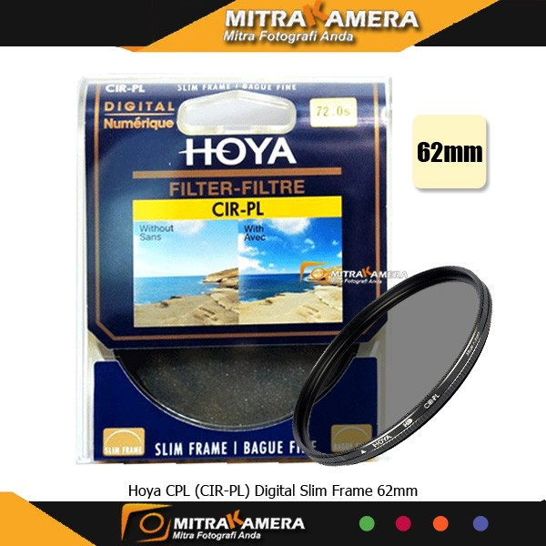 harga Hoya cpl (cir-pl) digital slim frame 62mm Tokopedia.com