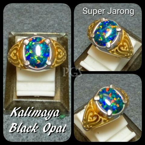 harga Cincin batu akik permata kalimaya black opal size kantoran full jarong Tokopedia.com