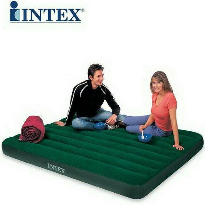 Kasur Angin Intex Queen Classic Downy Airbed