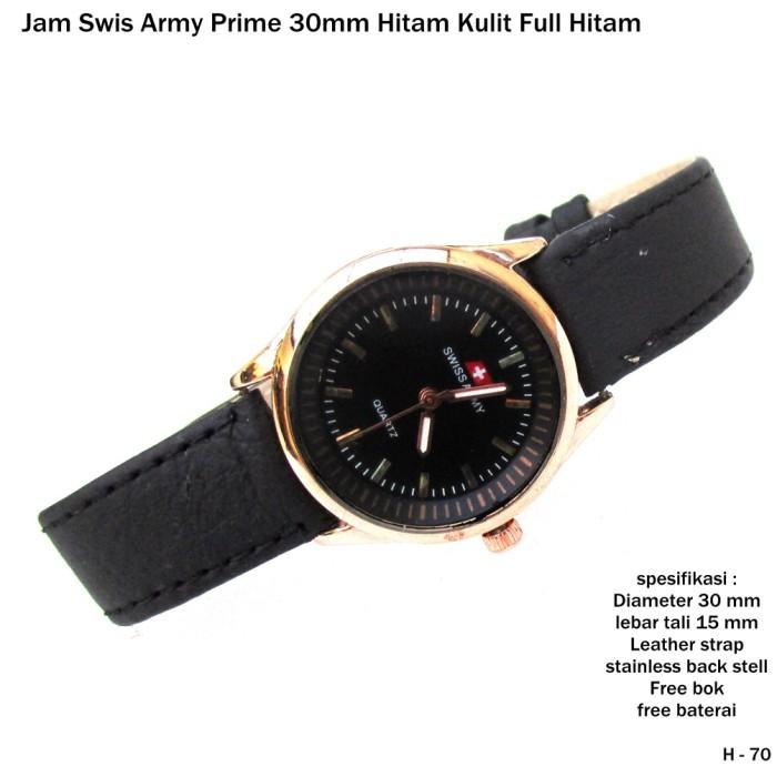 harga Jam tangan pria kulit swiss army leather full black Tokopedia.com