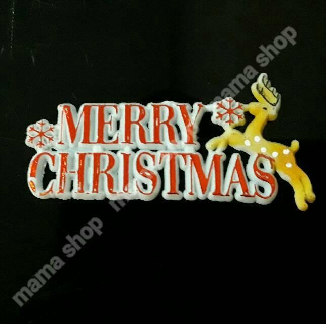 Toper Tulisan Merry Christmas / Hiasan Kue Natal / Pernak Pernik Natal