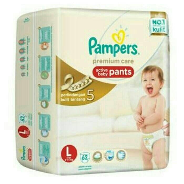 harga Termurah !! pampers premium care pants l62 Tokopedia.com