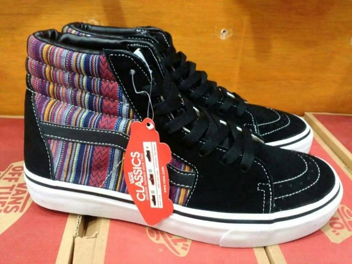 Sepatu vans sk8 skate hi high motif inca tribal original premium ...