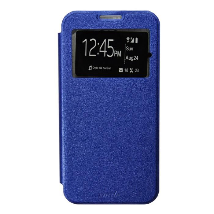 Smile Flip Cover LG K4 - Biru Tua