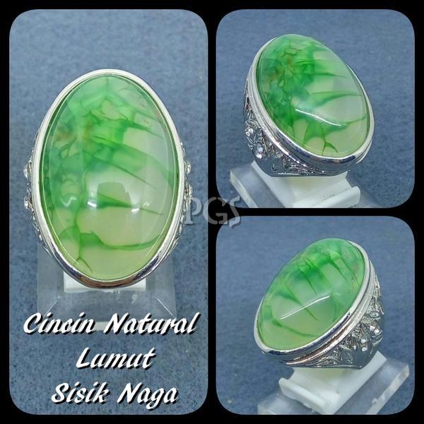 harga Cincin batu akik natural lumut sisik naga hijau mempesona paling murah Tokopedia.com