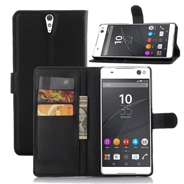 harga Sony xperia c5 ultra wallet leather flip book cover casing case dompet Tokopedia.com