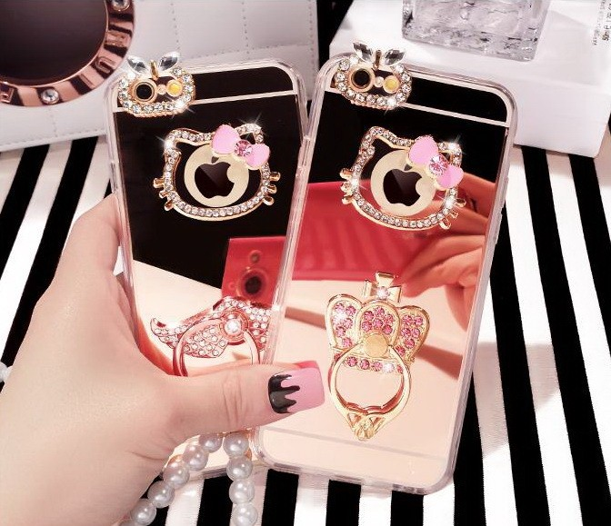 harga Iphone 5 5s mirror hello kitty stand ring soft case casing sarung unik Tokopedia.com