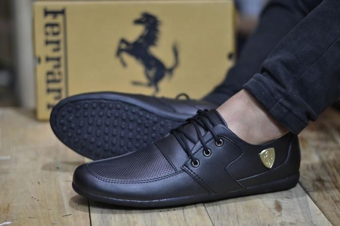 harga Sepatu pria casual tali hitam ferrari king Tokopedia.com