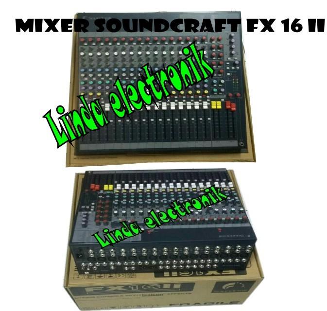 harga Murah!!! mixer soundcraft fx 16 ii Tokopedia.com