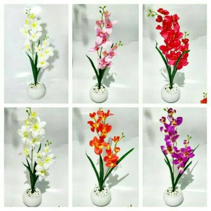 Jual bunga anggrek bunga hias bunga pajangan meja bunga artificial ... 4e9f0f1ad7