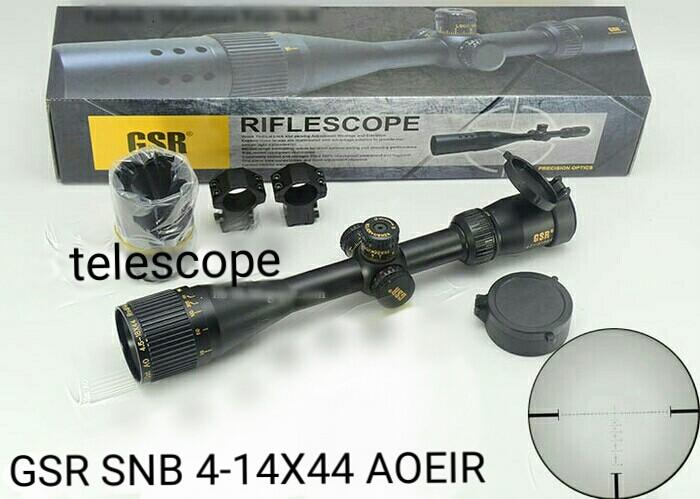 Jual telescope riflescope gsr gold snb 4 14x44 aoe ir reticle