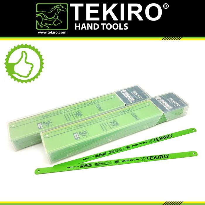 harga Tekiro mata gergaji besi 18 tpi - tangan 12 inch /mata gergaji besi Tokopedia.com