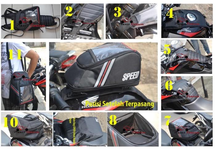 harga Tankbag Speed Planetcostum Untuk Motor Yamaha Scorpio Z / Tas Tangki / Tokopedia.com