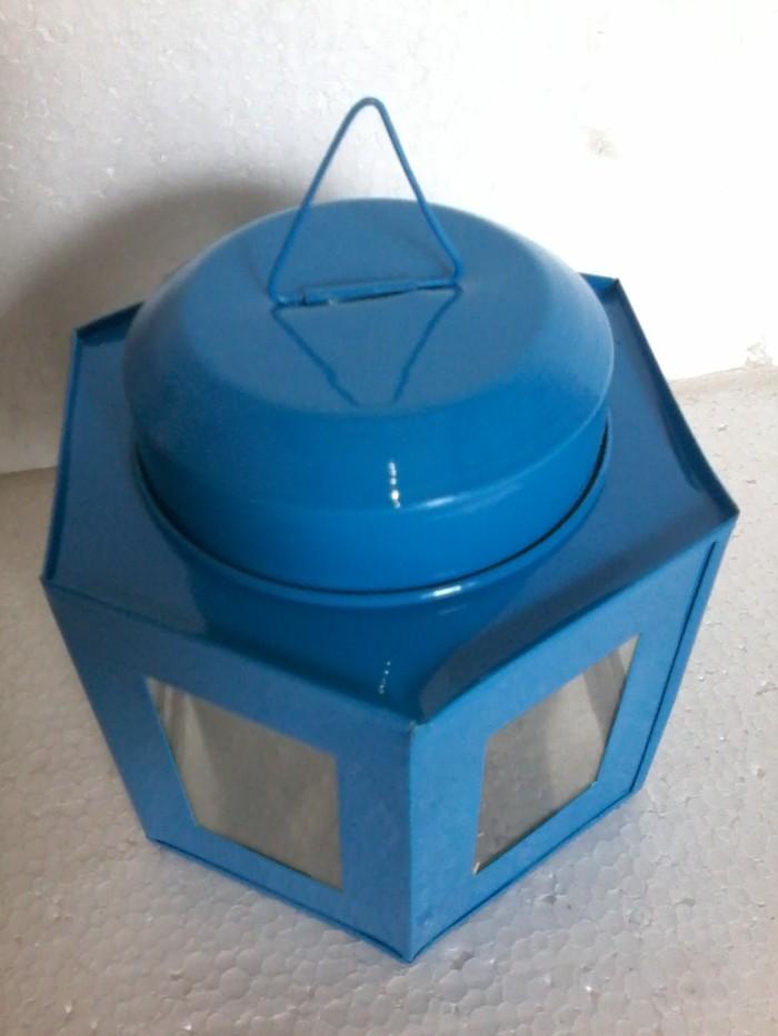 Kaleng Kerupuk Mini Segienam ukuran 7 x 10 cm