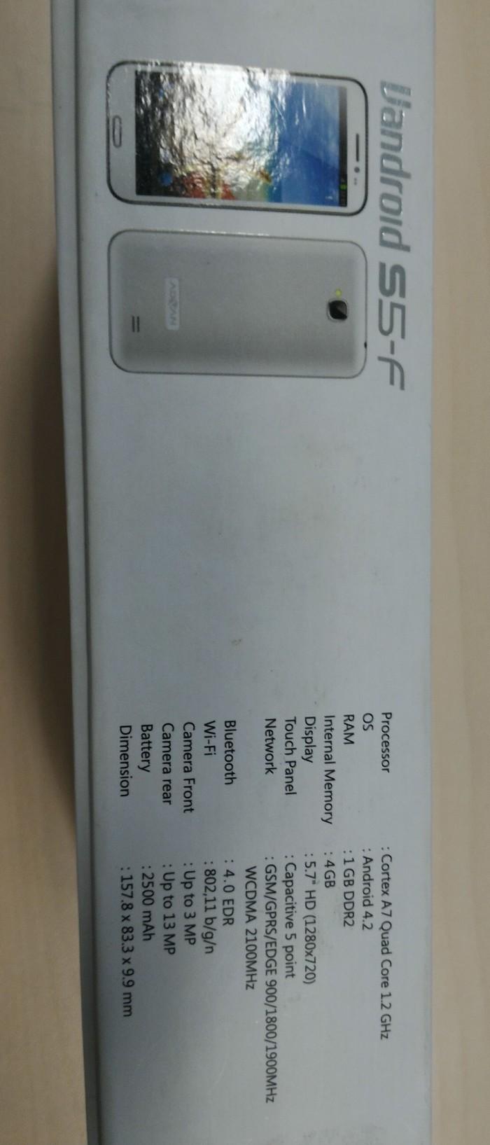 Jual Advan Vandroid S5 F Putih Rocky Shop Tokopedia S5j Smartphone Quadcore