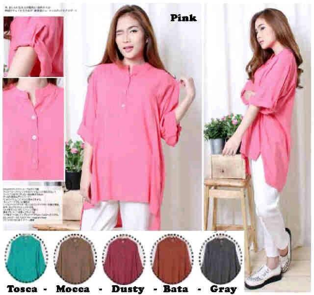 sv8141 K400 blouse super jumbo bahan katun rayon Ld=134
