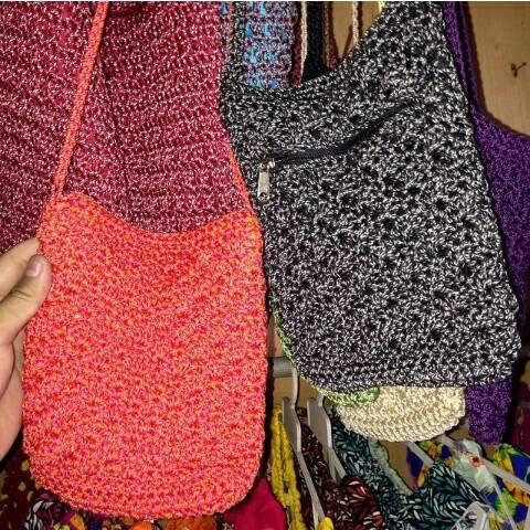 Jual Tas Selempang Bali Kecil Rajut Handmade Crochet  5507f3493d