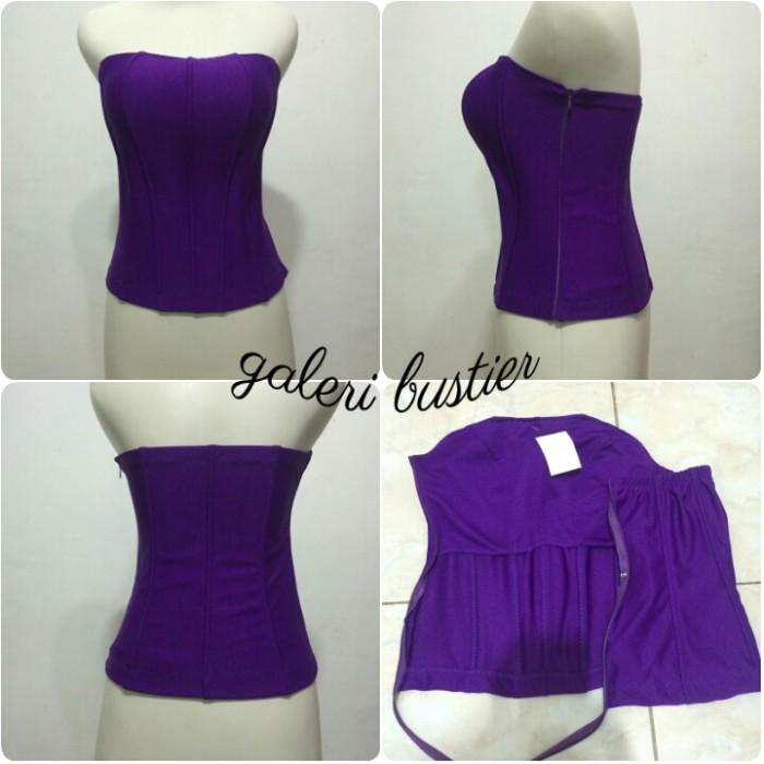 Jual bustier kemben modern murah ungu terong - galeribustier  5cb3385989