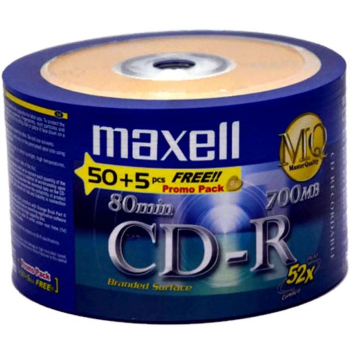 harga Maxell cd-r kosong blank 52x isi 50pcs free 5pcs Tokopedia.com